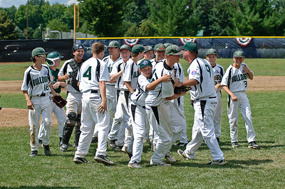 A happy team of Clifton Park Bulldogs rejoice after winning the 2011 Babe Ruth World Series game against Guilderland Friday Morning. Photo By Eric Jenks 8/27/11