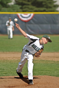 Clifton Park Bulldog Pitcher and MVP of the game against Guilderland Mason Munger throws a pitch Friday Morning during the 2011 Babe Ruth World Series. Photo By Eric Jenks 8/27/11