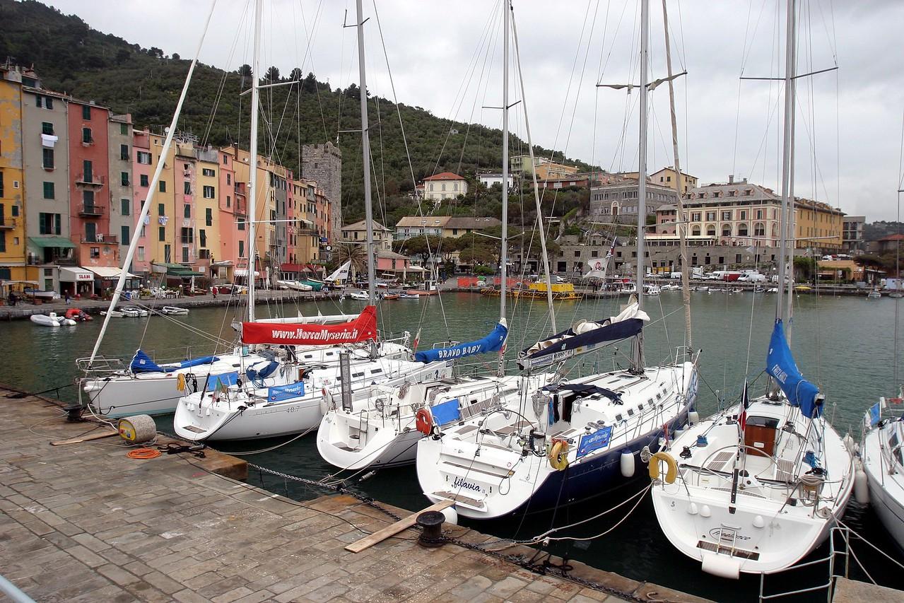 Sail Boats at Dock Portovenere, Italy