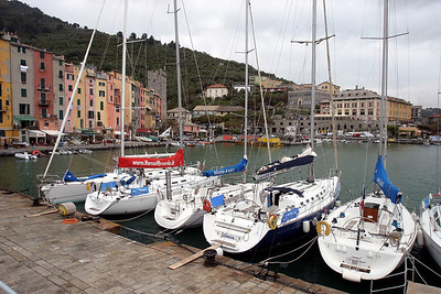 Sail Boats at Dock Portovenere, Italy