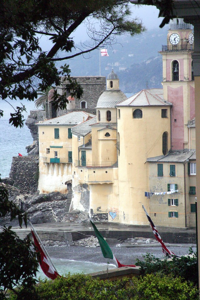 Castle and Clock Tower Camogli, Italy
