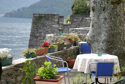Table and Chairs Lake Como, Italy