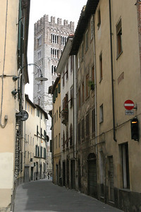 Street to Catederal Lucca, Italy