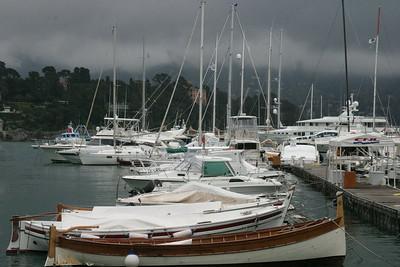 Ominous Harbor Scene Caogli, Italy