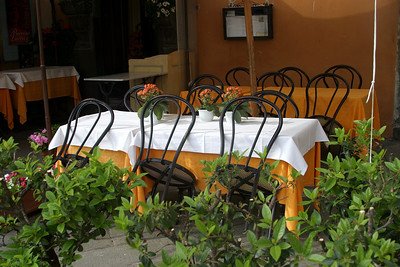 Tables and Chairs - Lucca Restaraunt Lucca, Italy