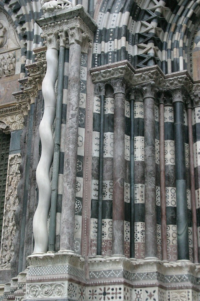 Detail of San Marcos Church Genova, Italy