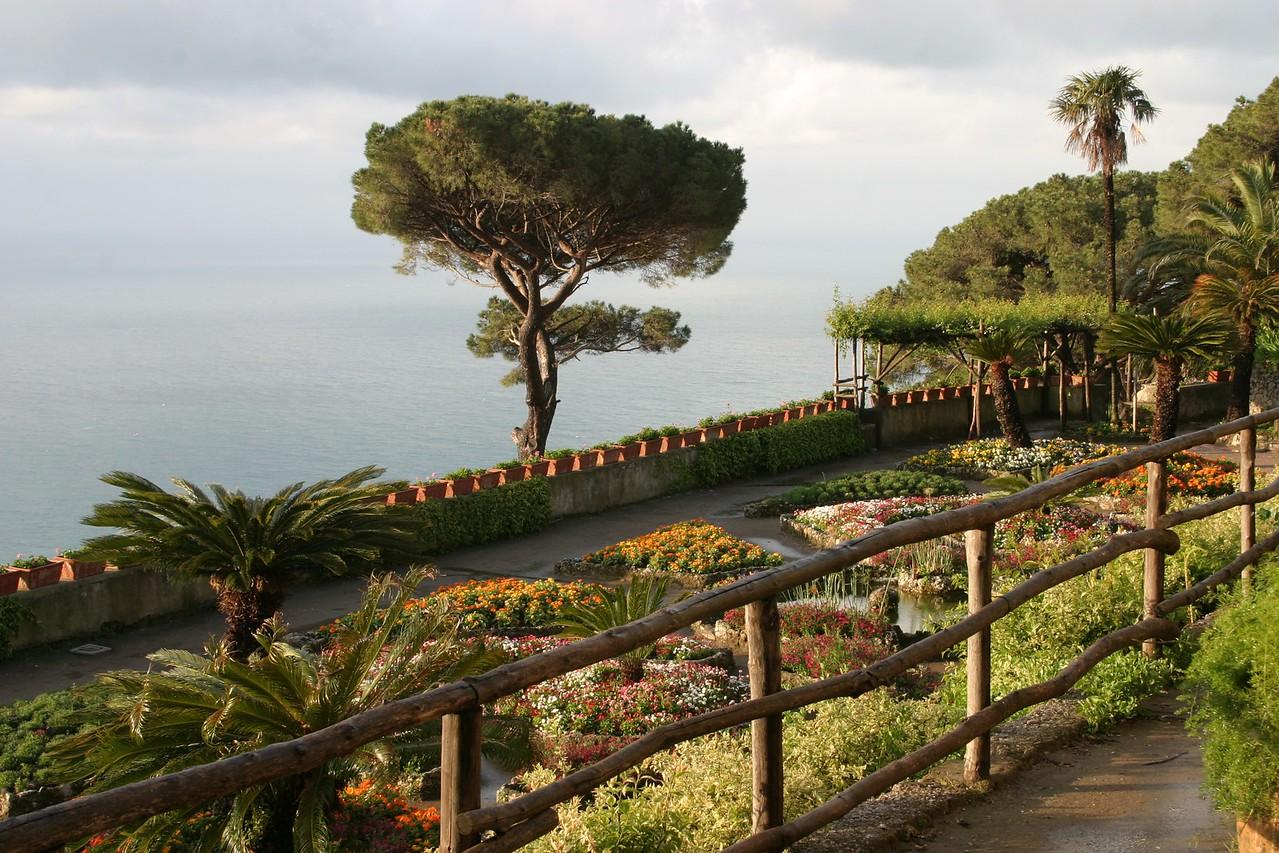 Garden with Fence Ravello, Italy