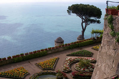 Garden Overlooking the Amalfi Ravello, Italy