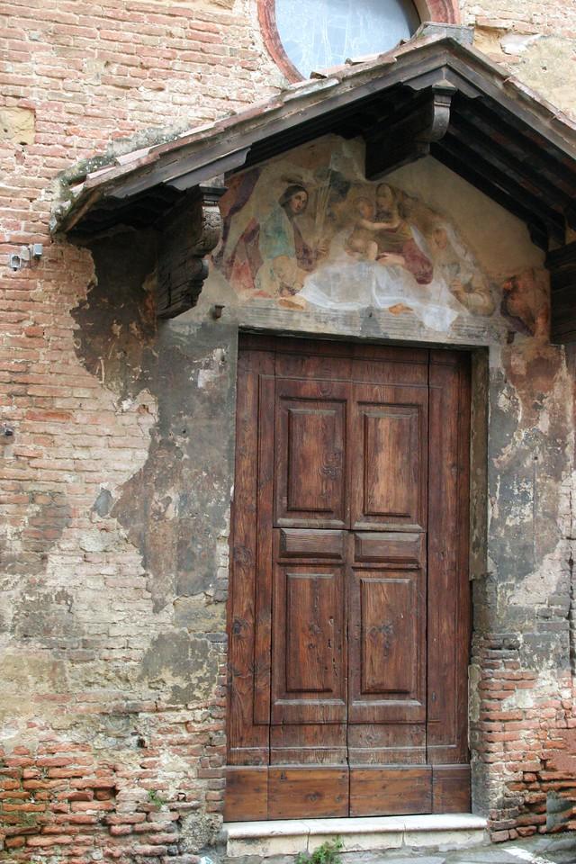 Fresco over Church Door Siena, Italy