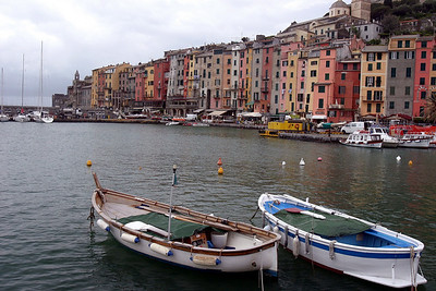 Two Boats in Harbor Portovenere, Italy