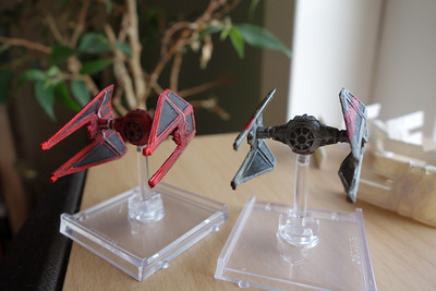 Tie Interceptors painted as Royal Guard and one with Bloodstripes.