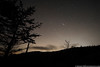 Shooting star over the Great Smoky Mountains.