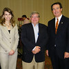 Emily Call, President of the Bartlesville Regional Chamber of Commerce; Jim Bohnsack of Arvest Bank and Chairman of the Chamber Board; and Fred Morgan, President and CEO of the Oklahoma State Chamber of Commerce.