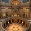 Looking down at the rotunda.