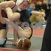 Iowa High School State Duals - #2 Prairie, Cedar Rapids defeated #7 Dowling Catholic, WDM 41-27<br /> 106 - Tanner Rohweder (#7 Dowling Catholic, WDM) over Sam Uthoff (#2 Prairie, Cedar Rapids) Pin 4:51