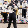 Don Knight/The Herald Bulletin<br /> Lapel junior Sheradan Hill performs her solo during State Fair Band Day on Friday.