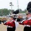 From left, Annie Waymire and Zac Miller perform a solo as the Frankton band competes in State Fair Band Day on Friday.