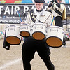 Don Knight/The Herald Bulletin<br /> Lapel's Brady Smith plays the quad drums during State Fair Band Day on Friday.