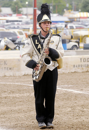 Don Knight/The Herald Bulletin<br /> Local bands compete in State Fair Band Day on Friday.