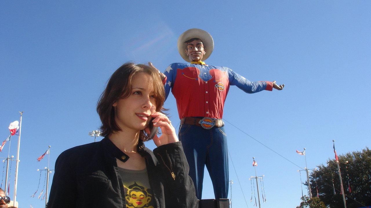 Cali and Big Tex at the State Fair of Texas