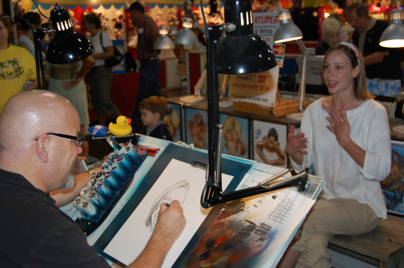 Cali Geeting Caricature #2 - Great State Fair of Texas