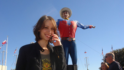 Cali and Big Tex at the State Fair of Texas 2