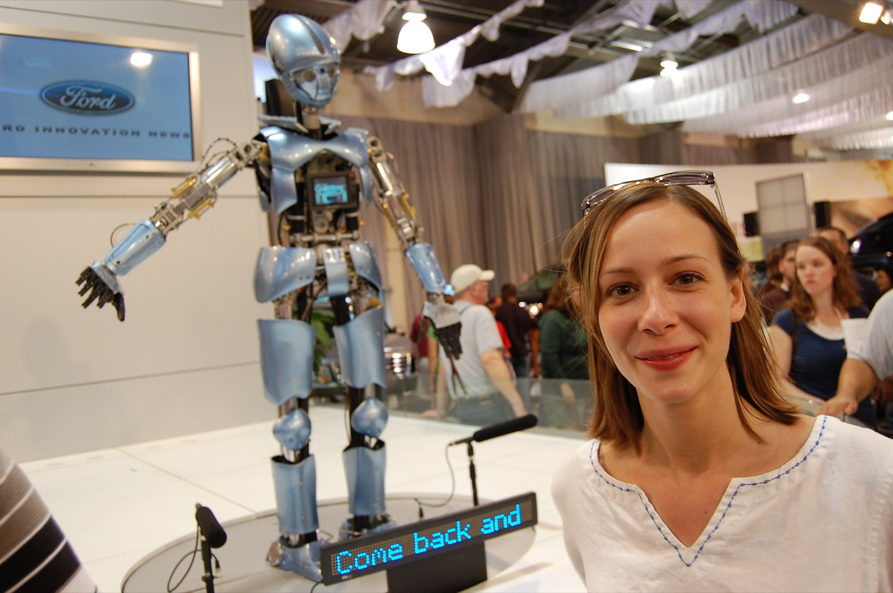Cali and Robot 1 - Great State Fair of Texas