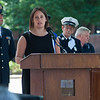Guest Speaker State Senator Jen Flanagan addresses family, friends and firefighters during the 64th annual Fireman's Sunday at the Upper Common, on June 15th. SENTINEL&ENTERPRISE/ Jim Marabello