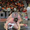 2014 Iowa High School Athletic Association State Tournament Class 1A <br /> 195<br /> Quarterfinal - Tyler Hoffman (East Buchanan, Winthrop) 45-0 won by fall over Matt Montgomery (Lisbon) 44-9 (Fall 3:09)