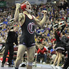 2014 Iowa High School State Finals Class 2A<br /> 2A-120<br /> 1st Place Match - Blake Luna (Clarinda) 41-3 won in the ultimate tie breaker over Brendan Gould (Assumption, Davenport) 37-6 (UTB 4-3)