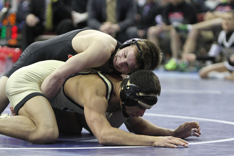 2014 Iowa High School State Finals Class 2A<br /> 2A-138<br /> 1st Place Match - Max Thomsen (Union, LaPorte City) 49-0 won by decision over Andres Gonzalez (Clear Lake) 38-1 (Dec 5-4)