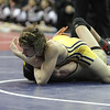 2014 Iowa High School State Finals Class 2A<br /> 2A-113<br /> 1st Place Match - Brock Rathbun (Center Point-Urbana) 46-0 won by fall over Ryan Leisure (Clear Lake) 37-4 (Fall 4:48)
