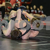 2014 Iowa High School Athletic Association State Tournament Class 2A <br /> 113<br /> Quarterfinal - Brock Rathbun (Center Point-Urbana) 46-0 won in sudden victory - 1 over Patrick Woods (West Delaware, Manchester) 47-2 (SV-1 6-4)