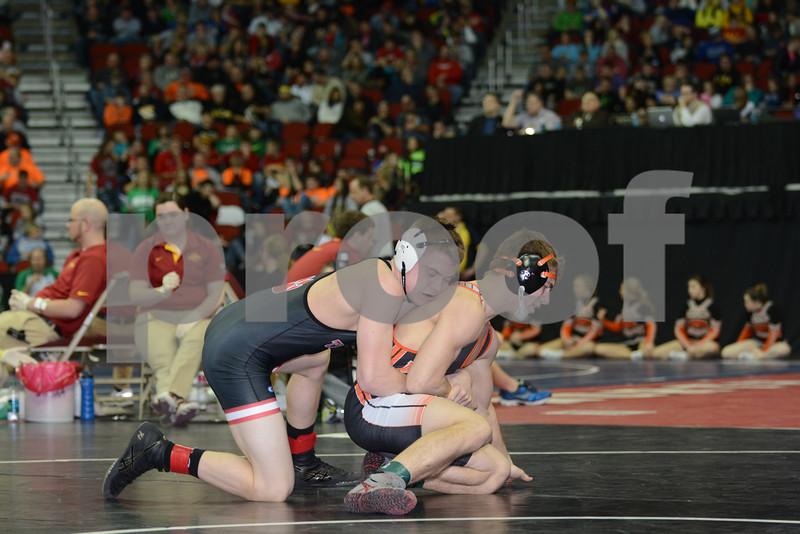 2014 Iowa High School Athletic Association State Tournament Class 2A<br /> 152<br /> Semifinal - Zach Johnston (Adm, Adel) 38-8 won by decision over Bret Tomoson (Sergeant Bluff-Luton) 47-6 (Dec 4-3)