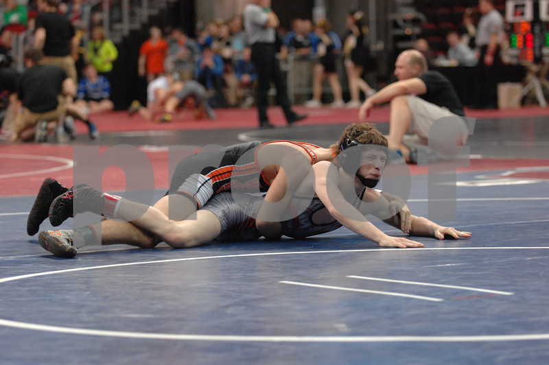2014 Iowa High School Athletic Association State Tournament Class 2A<br /> 106<br /> Semifinal - Connor Cleveland (New Hampton) 44-2 won by decision over Brayden Curry (Sergeant Bluff-Luton) 22-2 (Dec 5-4)