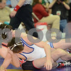 2014 Iowa High School Athletic Association State Tournament Class 2A<br /> 132<br /> Semifinal - Eric Clarke (Assumption, Davenport) 31-10 won by major decision over Hunter Slifka (Crestwood) 43-4 (MD 12-0)