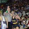2014 Iowa High School State Finals Class 3A<br /> 3A-106<br /> 1st Place Match - Jack Wagner (Bettendorf) 44-4 won in sudden victory - 1 over Jakob Allison (Waukee) 42-2 (SV-1 4-2)