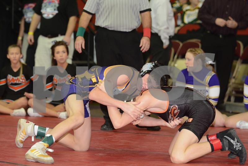 2014 Iowa High School Athletic Association State Tournament Class 3A <br /> 106<br /> Cons. Round 2 - Alec Ksiazek (Johnston) 36-11 won by decision over Marcus England (Prairie, Cedar Rapids) 37-13 (Dec 6-5)