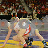 2014 Iowa High School Athletic Association State Tournament Class 3A <br /> 106<br /> Cons. Round 2 - Brenden Baker (Cedar Rapids, Jefferson) 41-1 won by major decision over Travis Pulse (Davenport, West) 29-13 (MD 13-4)