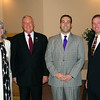 Chamber President Sherri Wilt, City Manager Ed Gordon, Central National Bank President Josh Means, and Mayor Tom Gorman.