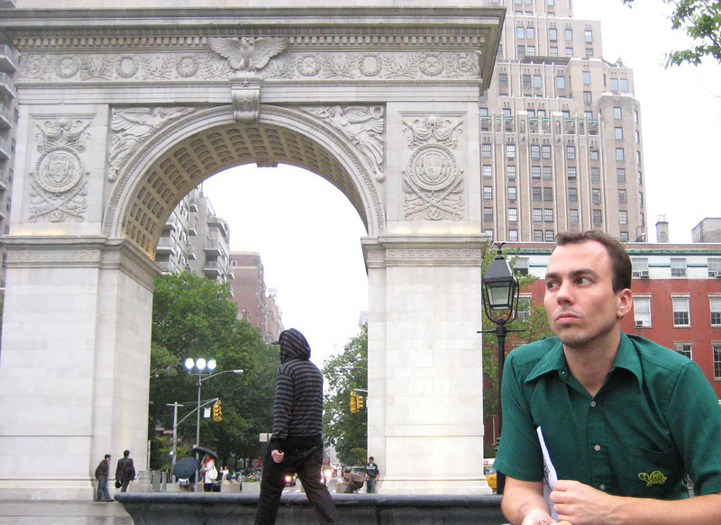 me in washington square park, nyc