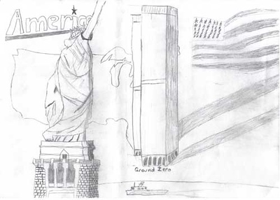Statue of Liberty 2006/2007 Drawing Contest Finalist — Jacob, age 11 (Fenton, Michigan)