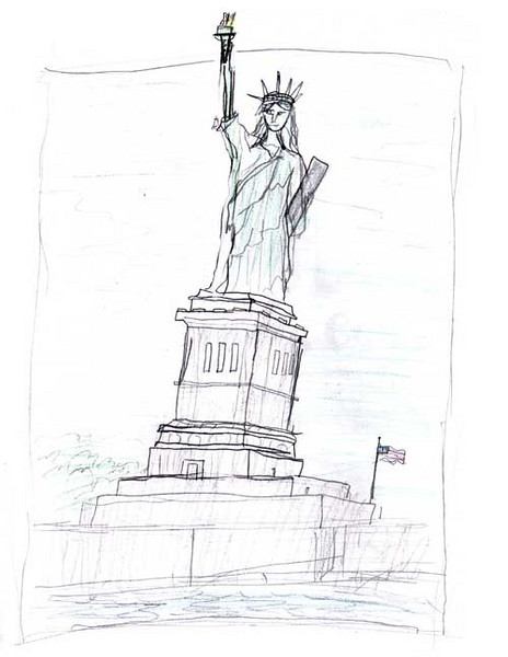 Statue of Liberty 2006/2007 Drawing Contest Finalist — Jonathan, age 9 (Piscataway, New Jersey)