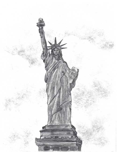Statue of Liberty 2006/2007 Drawing Contest Winner (ages 10-12) — Nazariy, age 11 (Westfield, Massachusetts)