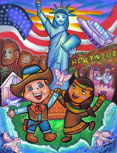 Statue of Liberty 2006/2007 Drawing Contest Winner (ages 5-7) — Beatrix, age 7 (Jakarta, Indonesia)