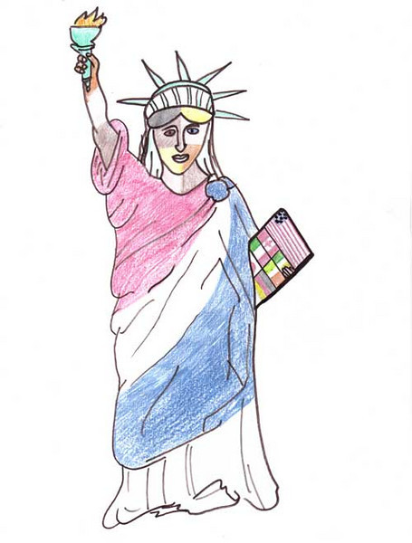Statue of Liberty 2006/2007 Drawing Contest Finalist — Maggie, age 8 (Poland, Ohio)
