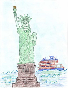 Statue of Liberty 2006/2007 Drawing Contest Finalist — Catherine, age 10 (Staten Island, New York)