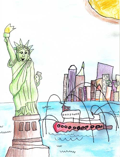 Statue of Liberty 2006/2007 Drawing Contest Finalist — Scott, age 5 (San Diego, California)