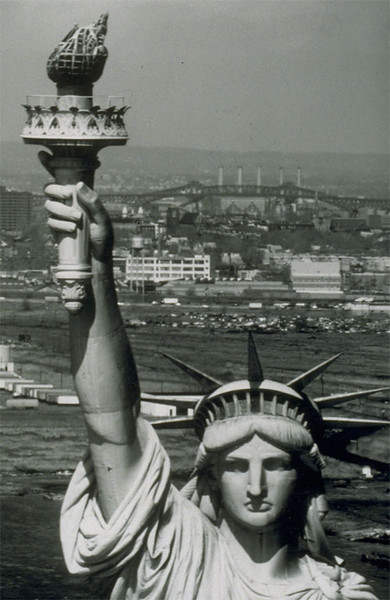 Statue of Liberty in New York Harbor (before restoration in 1986)