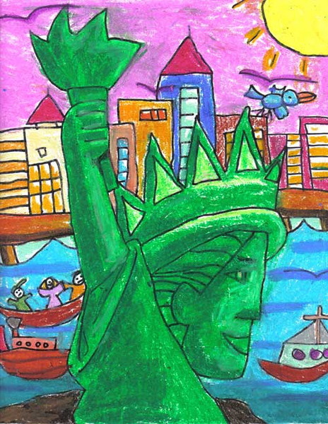 Statue of Liberty 2006/2007 Drawing Contest Finalist — Sophia, age 6 (Edison, New Jersey)